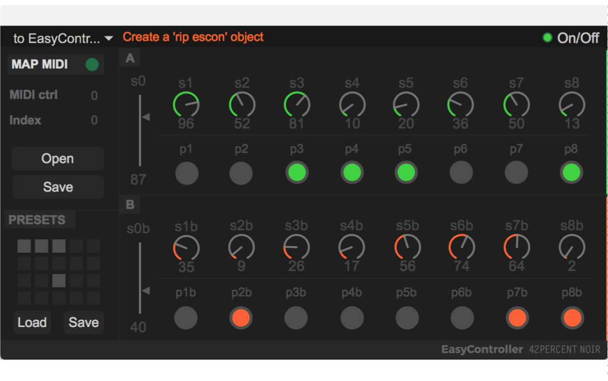 EasyController's interface